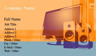 Orange Home Entertainment Business Card Template